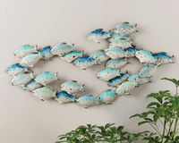 School Crossing Layered Fish Wall Art