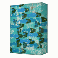 School of Blue Fish Aluminum Wall Art