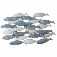 School of Fish Embossed Metal Wall Art