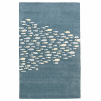 School Time Blue Rug Collection