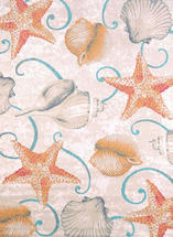 Scrolls and Shells Natural Rug Collection