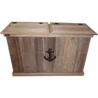 Sea Anchor Trash & Recycling Container