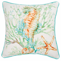 Sea Bounty Seahorse Pillow