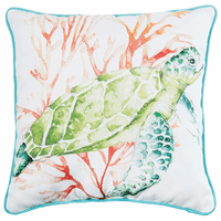Sea Bounty Turtle Pillow