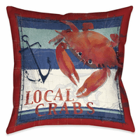 Sea Crab 18 x18 Outdoor Pillow