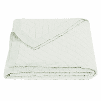 Sea Foam Linen Quilt - Full/Queen