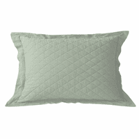 Sea Foam Linen Quilt King Sham