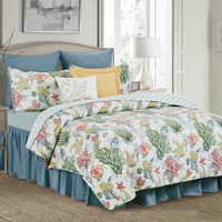 Sea Garden Quilt Set - Twin