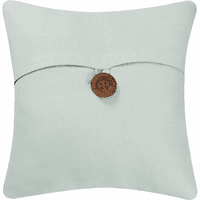Sea Glass Button Feather Down Pillow