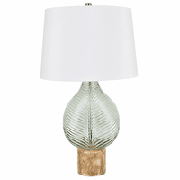 Sea Glass Leaf Table Lamp - OVERSTOCK