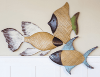 Sea Grass Fish Wall Decor - Set of 3 - OVERSTOCK