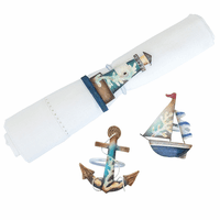 Sea Icons Napkin Rings - Set of 6