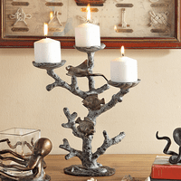 Sea Life & Coral Pillar Candle Holder