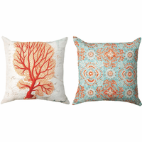 Sea Life Coral Reversible Pillow - OVERSTOCK