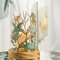 Sea Life Hurricane Candle Holder - OVERSTOCK