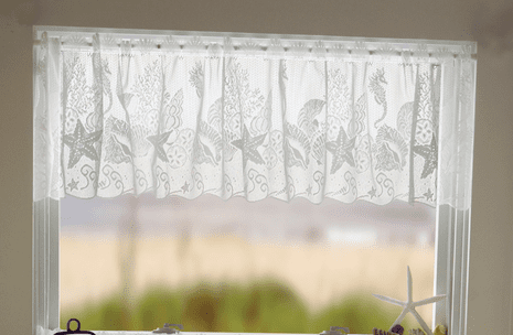 Sea Life Lace Valance