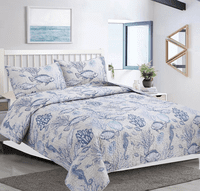 Sea Life Medley Quilt Set - Twin - CLEARANCE