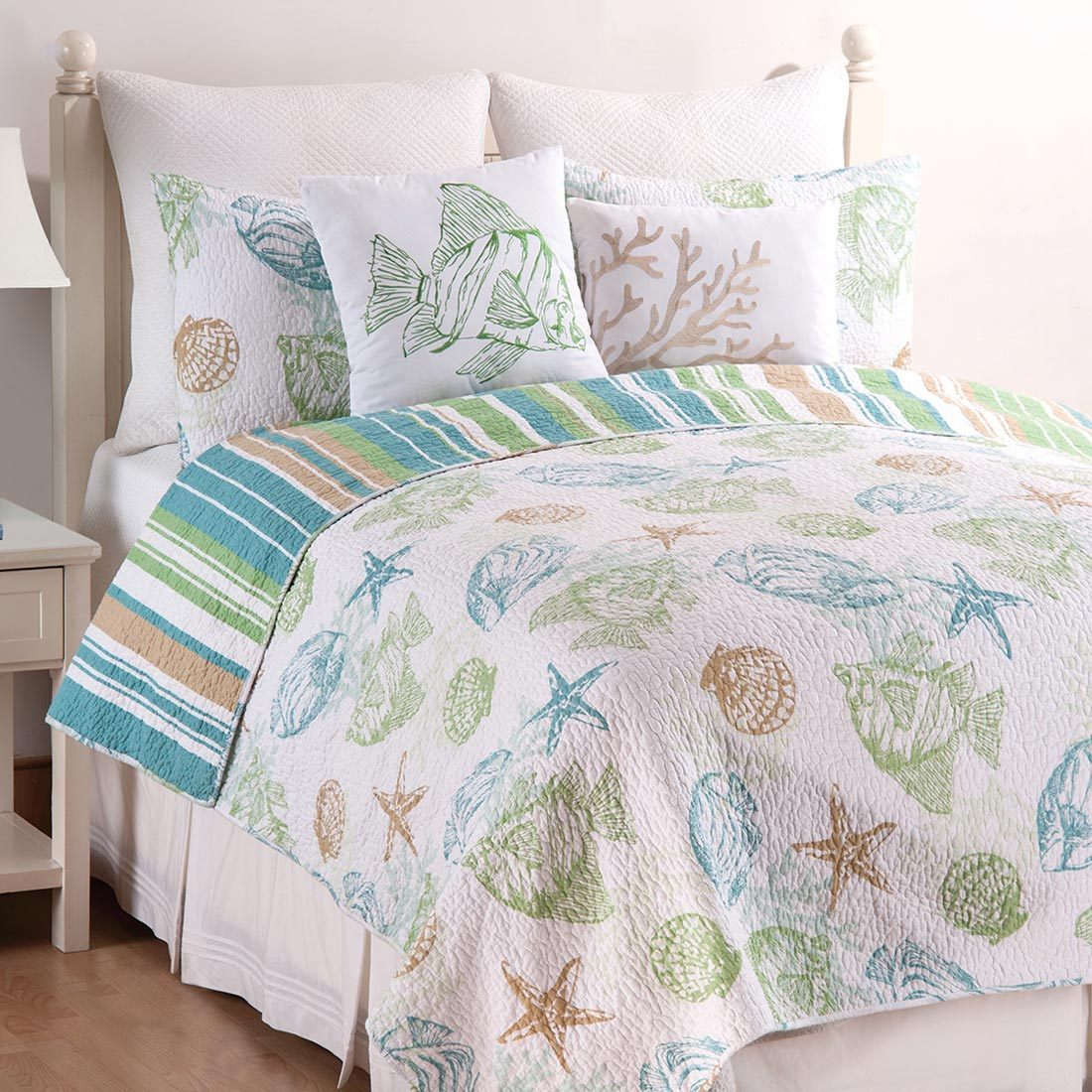 Sea Life Quilt Set Full Queen