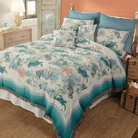 Sea Life Serenade Tapestry Coverlet - King