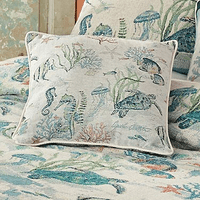 Sea Life Serenade Tapestry Toss Pillow - CLEARANCE