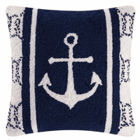 Sea Port Anchor Hooked Pillow
