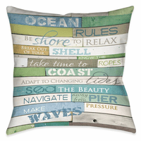Sea Rules 20 x 20 Outdoor Pillow