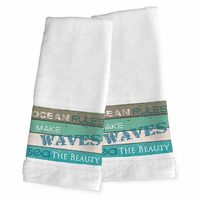 Sea Rules Hand Towels - Set of 2