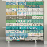 Sea Rules Shower Curtain