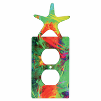 Sea Star Metal Outlet Cover - CLEARANCE