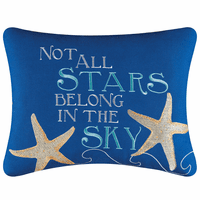 Sea Stars Embroidered Pillow