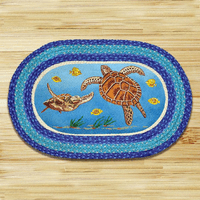 Sea Turtle Braided Rug