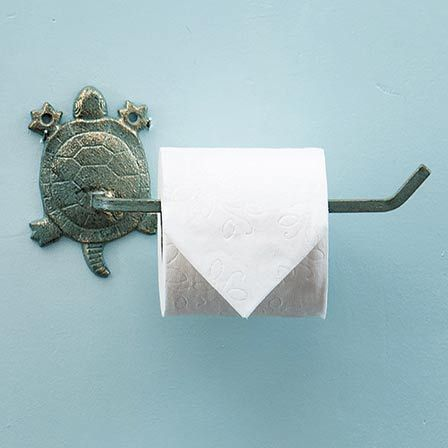Sea Turtle Cast Iron Toilet Paper Holder