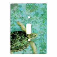 Sea Turtle Ceramic Switch Plate Cover - CLEARANCE