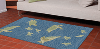 Sea Turtle Crossing Rug Collection