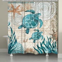 Sea Turtle Explorer Shower Curtain