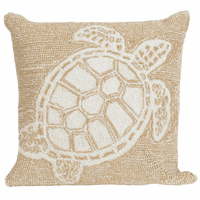Sea Turtle Family Camel Indoor/Outdoor Pillow