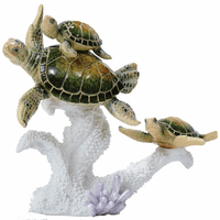 Sea Turtle Family Sculpture - BACKORDERED until 6/4/2021