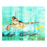 Sea Turtle Gulf Canvas Art