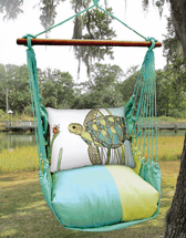 Sea Turtle Meadow Mist Stripe Swing Set
