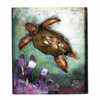 Sea Turtle Reef Metal Wall Art