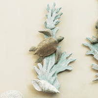 Sea Turtle & Shell Wall Art - Right Facing