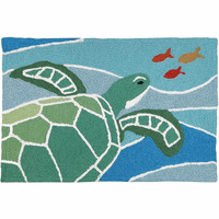 Sea Turtle Swim Indoor/Outdoor Rug