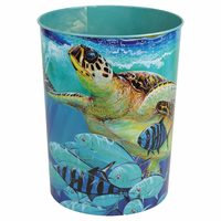 Sea Turtle Tin Waste Basket