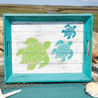 Sea Turtle Trio Wood Tray