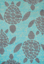 Sea Turtles Blue Rug Collection