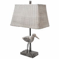 Seabird Wicker Table Lamp