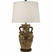 Seacrawler Beige & Dark Bronze Table Lamp