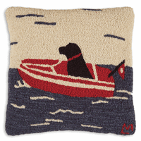 Seadog Hooked Wool Pillow