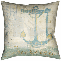 Seafarer Journey Decorative Pillow