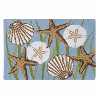 Seagrass & Shells Washable Rug